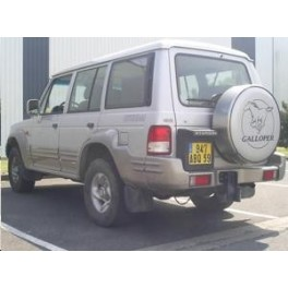 ATTELAGE HYUNDAI Galloper 1998- - 4x4 chassis long (JK) - rotule equerre - attache remorque BRINK-THULE