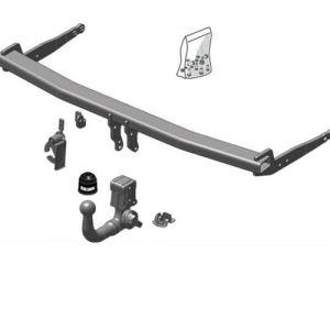 ATTELAGE FORD RANGER 2012- pick-up 4WD (avec pare-chocs marchepied) - Rotule equerre - attache remorque BRINK